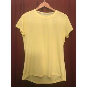 Yellow Nike Dri-Fit Top